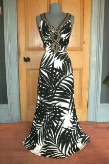 Gorgeous Julien MacDonald Palm Print Maxi Dress Size 16
