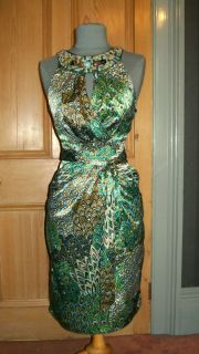 Gorgeous Julien MacDonald Peacock Evening Dress Size 14