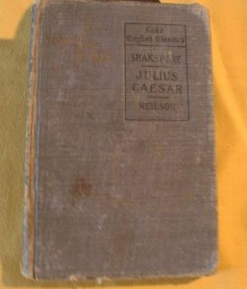 Shakspere Julius Caesar Lake English Classic 1901