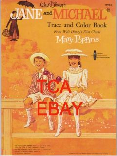 JULIE ANDREWS MARY POPPINS JANE & MICHAEL 64 TRACE & COLOR BK MINT