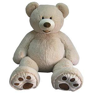 Giant 53 Stuffed Bear Cream Sitting Plush Teddy Bear Hugfun