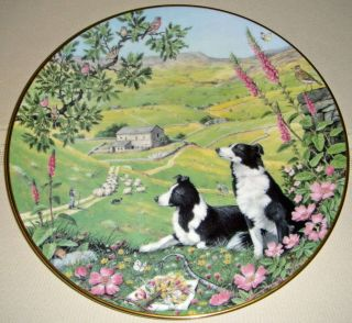 Creatures Great Small The Shepherds Path June Calendar Plate