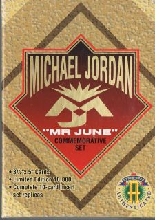Upper Deck Chicago Bulls Michael Jordan Mr June Set with Box
