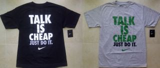 Nike Men Talk Is Cheap Just do It T Shirt M L Jordan Kobe Lebron