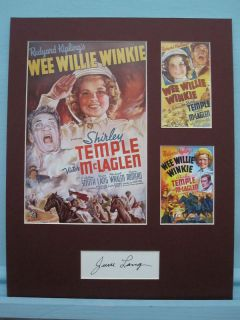 Shirley Temple in Wee Willie Winkie Signed by June Lang