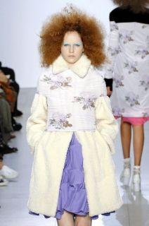JUNYA Watanabe Comme Des Garçons Lavender Floral Graphic Top