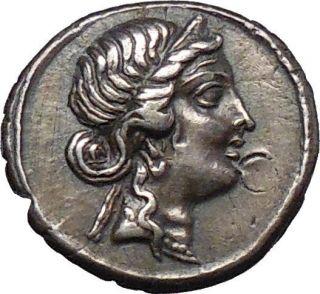Julius Caesar AR Denarius 46B C Venus Aeneas Carrying Anchises from