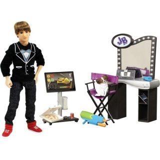 Justin Bieber Real Hairstyle Doll Concert Tour Backstage 16 Pc Playset