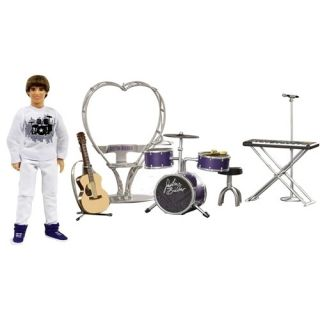 NIB Justin Bieber Real Hair Doll Concert Tour Onstage Playset 19 Piece