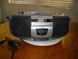 ES225 STEREO BOOMBOX AM FM RADIO CD PLAYER CASSETTE RECORDER QSOUND