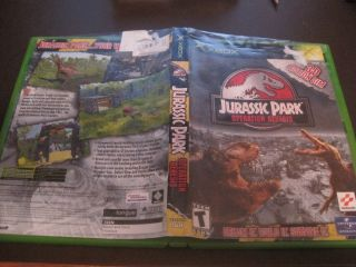 XBOX Jurassic Park Operation Genesis Case Cover Art Only NO DISC Free