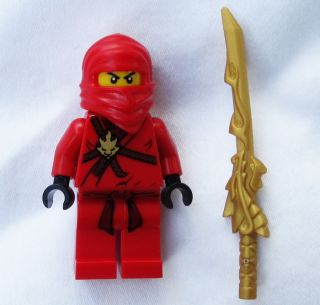 NEW LEGO NINJAGO KAI MINIFIG w Dragon Katana Sword figure minifigure