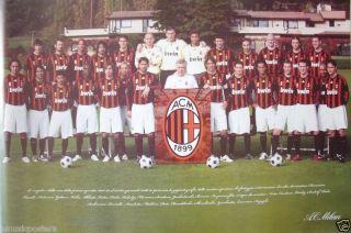 AC MILAN FC 2008 2009 TEAM SHOT FOOTBALL CLUB POSTER Ronaldinho Pato
