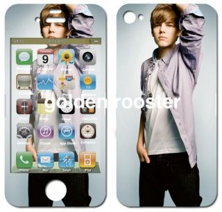 Justin Bieber 2 iPhone 4 4S 3G 3GS Skin Sticker Hot Fast SHIP