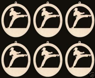Karate Female Sports Figure Ornaments Wood 1506 4ND
