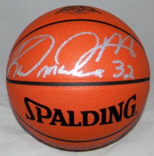 KARL MALONE AUTOGRAPHED SIGNED NBA SPALDING BASKETBALL UTAH JAZZ
