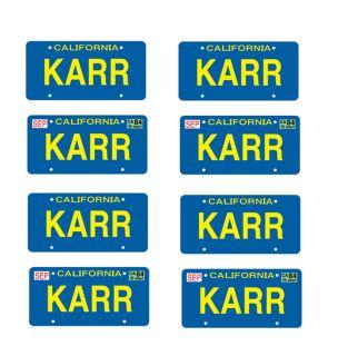 25 Scale Model Knight Rider Kitt Karr Car License Tag Plates