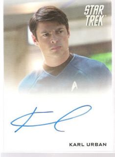 Star Trek Movie XI 2009 Autograph Karl Urban Bones