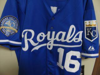 Bo Jackson 16 Kansas City Royals Throwback w 40th Patch blue Jersey 54