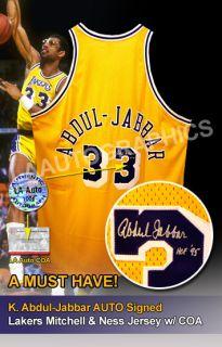 Kareem Abdul Jabbar Auto Signed Lakers Jersey w COA
