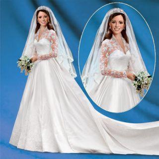 Princess Catherine Kate Middleton Wedding Doll Ashton Drake