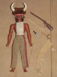 Vintage 70s Big Jim Karl May Indian Warlord Scout Doll