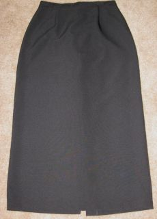 Womens Long Black Kathie Lee Skirt Size 8 Excellent