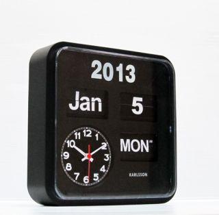 Karlsson Retro Modern Mini Calendar Flip Wall Clock