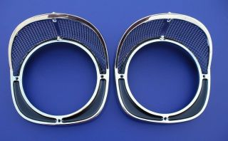 57 Chevy Headlight Bezel Assembly New Pair 1957 Chevrolet Show Quality