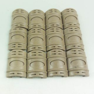 New 12 Pcs Tan Rubber Covers for Weaver Picatinny Rail Rifle Gun