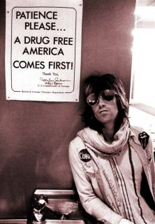 Keith Richards Drug Free Poster 72 Rolling Stones RARE