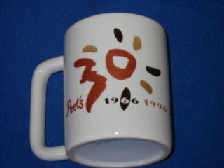 Peets Coffee Mug Cup 30 Year Anniversary 1966 1996 Advertising