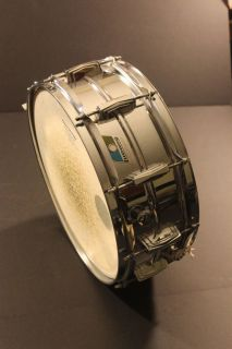 Ludwig Supraphonic Snare Drum 5 x 14 Blue Olive Pointy Badge