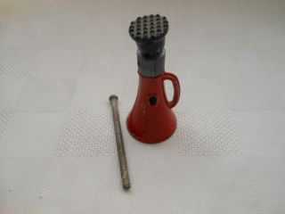 Miniature Screw Jack Simplex Templeton Kenly Co Chicago Red