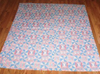 Vintage Absolutely Beautiful Handmade 71 x 73 Quilt EXC Cond Twin