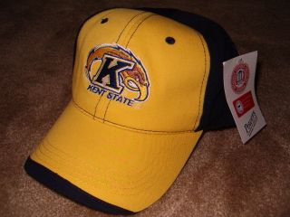 New Blue Gold Kent State Golden Flash Baseball Cap Hat