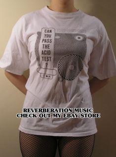 PASS THE ACID TEST white XL T Shirt Grateful Dead Ken Kesey 100 cotton