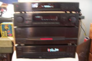 KENWOOD 4 Piece Home Stereo Pre Amp Power Amp Tuner CD Player Works