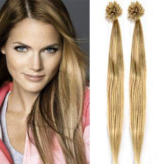 Keratin Pre Bonded Nail U Tip Glue 100 Remy Real Human Hair Extensions