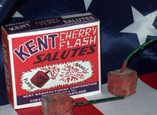 VINTAGE FIRECRACKER BOXES CHERRY BOMB, M80 KENT CHERRY FLASH BOMBS