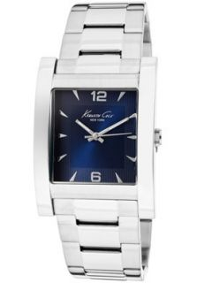 Kenneth Cole Watch KC9143 Mens Blue Dial Stainless Steel