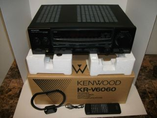 KENWOOD AUDIO VIDEO STEREO RECEIVER AMPLIFIED TUNER W BOX HOME THEATER