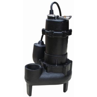 Horsepower Cast Iron Sewage Pump with Tethered Float Switch
