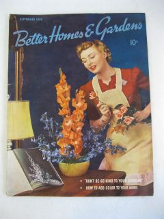 Better Homes Gardens Magazine September 1939 Victor Kepler
