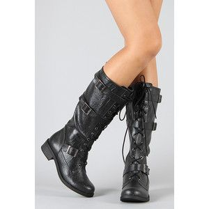 Lace Up Military Knee High Combat Boots Kevin H