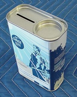 Jewish National Fund JNF KKL Keren Kayemet Charity Box Tin Pushke