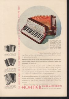 1934 Hohner Piano Accordion Instrument Music Keyboard