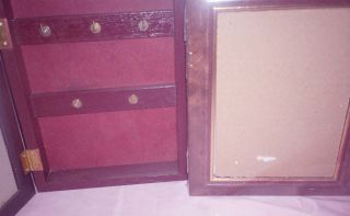 Wooden Wall Cabinet with Mirror Key Holder 5 Key Holder Shadow Box