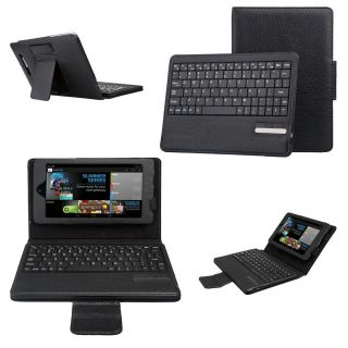 Tablet Black Bluetooth Keyboard Stand Leather Case Cover