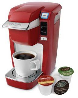 Keurig 120V Mini Plus B31 Red K Cup Single Serving Coffee Brewer Maker